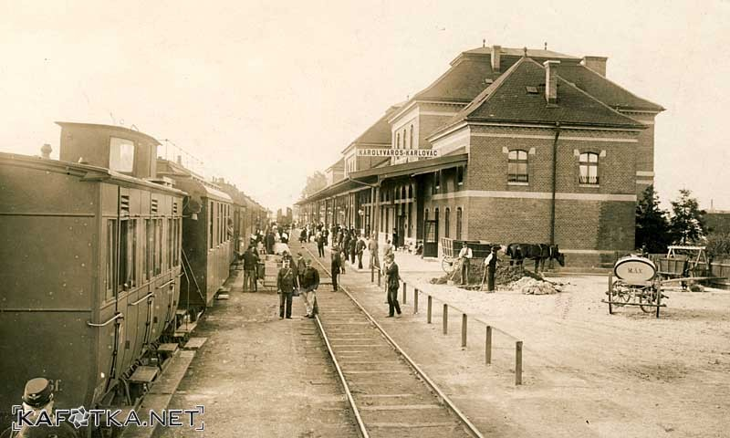 Zeljeznicki Kolodvor Karlovac Oko 1910 Kafotka